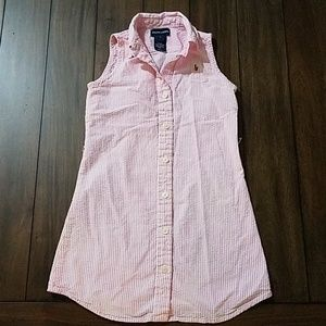 Girls Ralph Lauren classic pink gingham dress 7